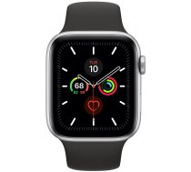Apple Watch Series 5 44mm GPS + Cellular Silver Aluminum Case with Sport Band