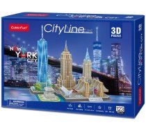 CubicFun City Line New York City 3D MC255h, 123 gab.
