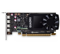 Dell NVIDIA, 4 GB, Quadro P1000, GDDR5, PCI Express 3.0, 4 mDP 490-BDXN